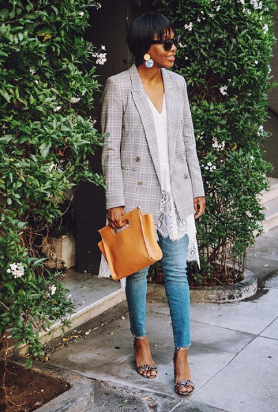 Layer Summer Tops With Oversized Blazers