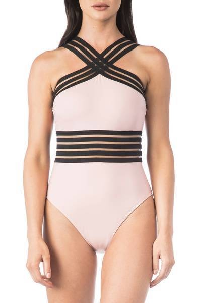 High Neck One-Piece Swimsuit