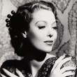 Loretta Young in Long Sleeve Lace