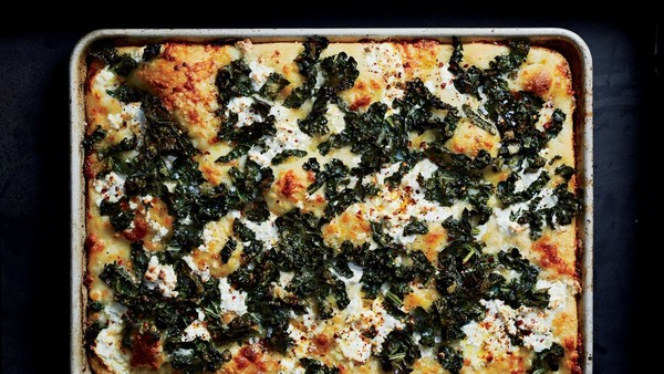 Spicy Tuscan Kale And Ricotta Grandma Pie
