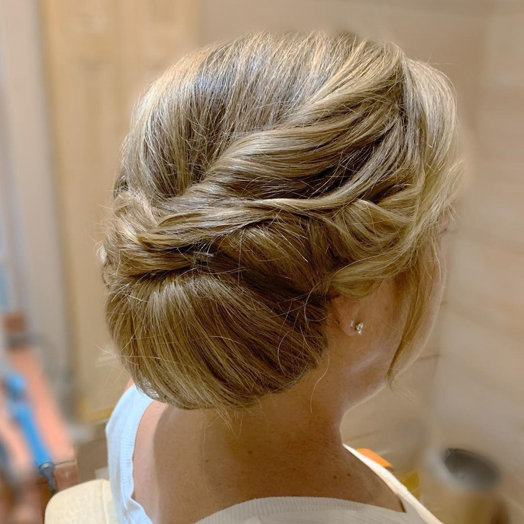 A Twisted Chignon - Gorgeous Updos For Women Over 50 - It's Rosy